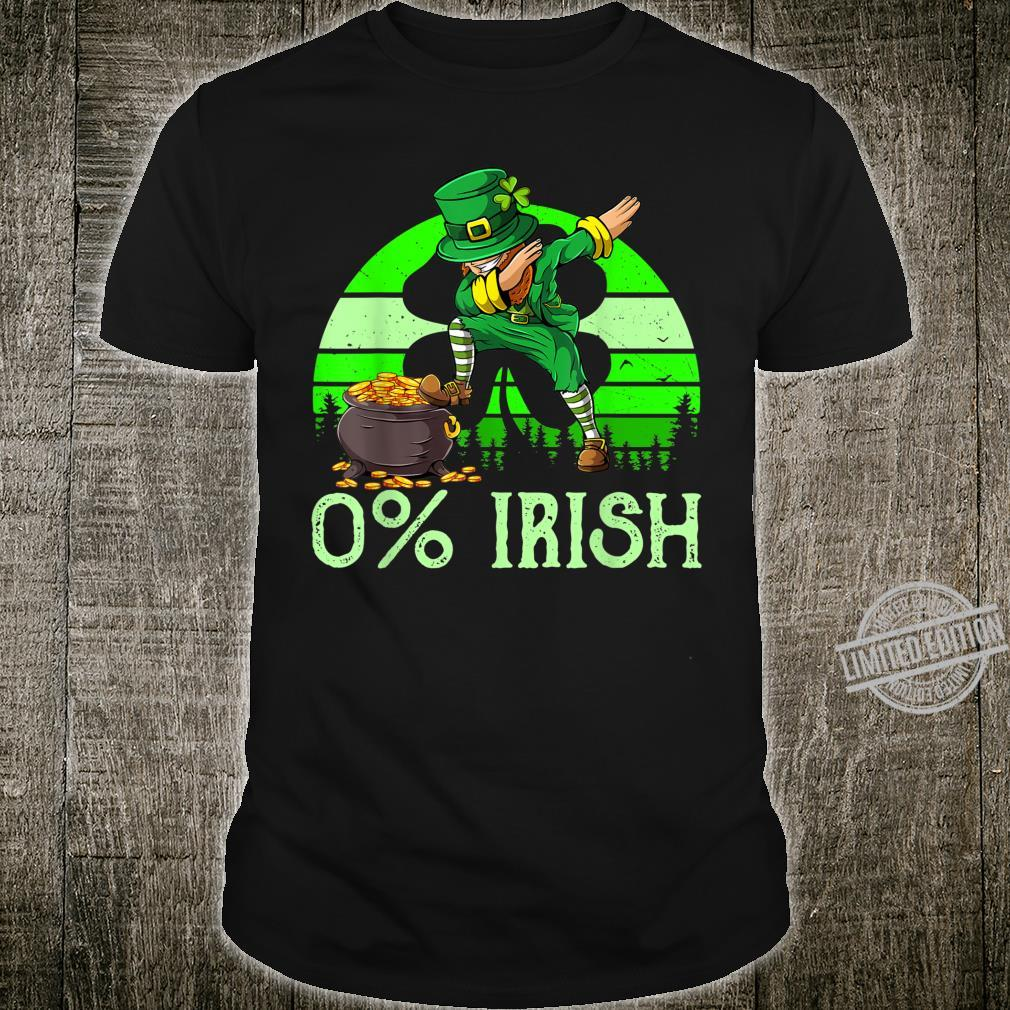 0% Irish Saint Patrick's Day Leprechaun Dab Vintage Shirt