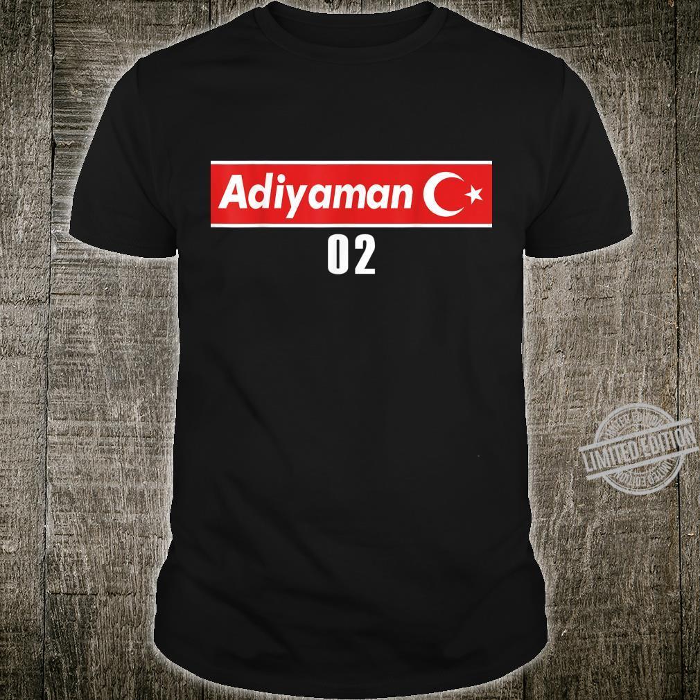 02 Adiyaman Türkisches Trikot mit Flagge als Geschenk Shirt