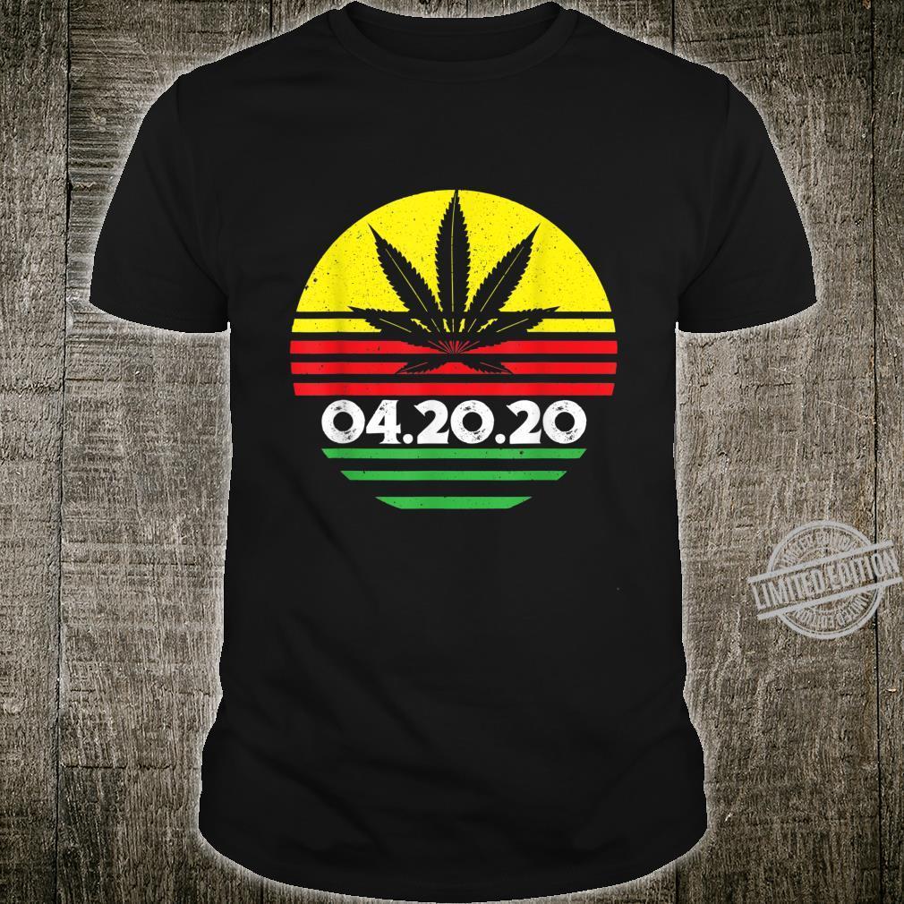 04.20.2020 Cannabis Stoner Weed Smoker's Marijuana 420 Shirt