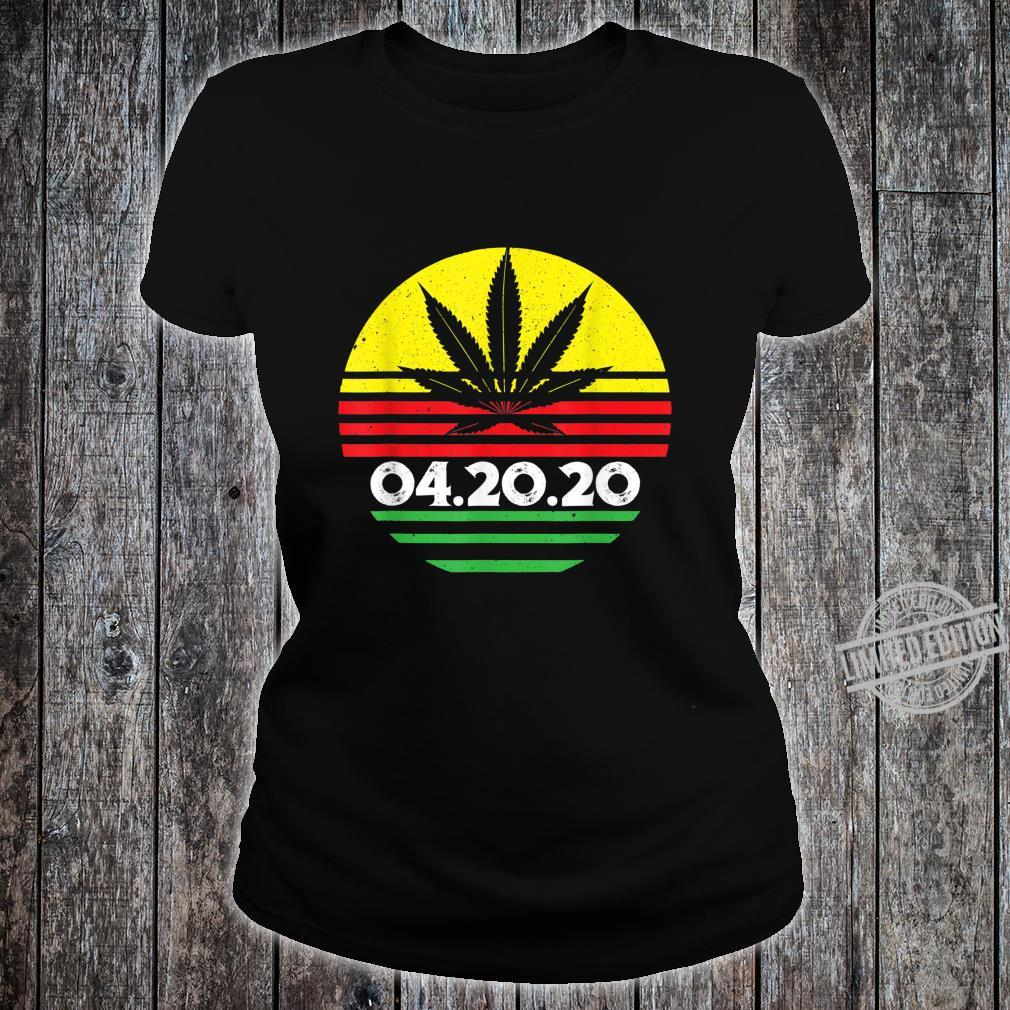 04.20.2020 Cannabis Stoner Weed Smoker's Marijuana 420 Shirt ladies tee