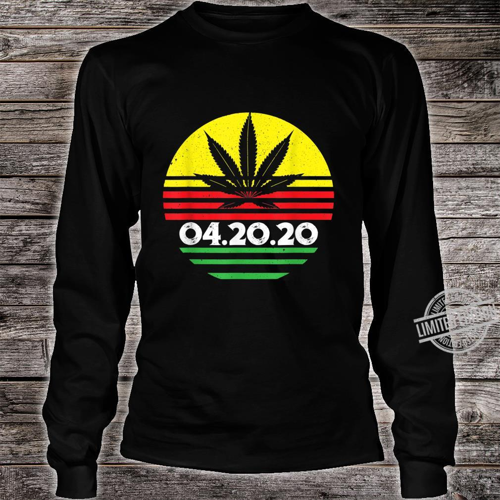 04.20.2020 Cannabis Stoner Weed Smoker's Marijuana 420 Shirt long sleeved