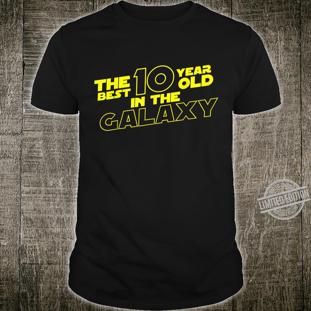 10 Year Old 10th Birthday Best 10 Year Old In The Galaxy Shirt