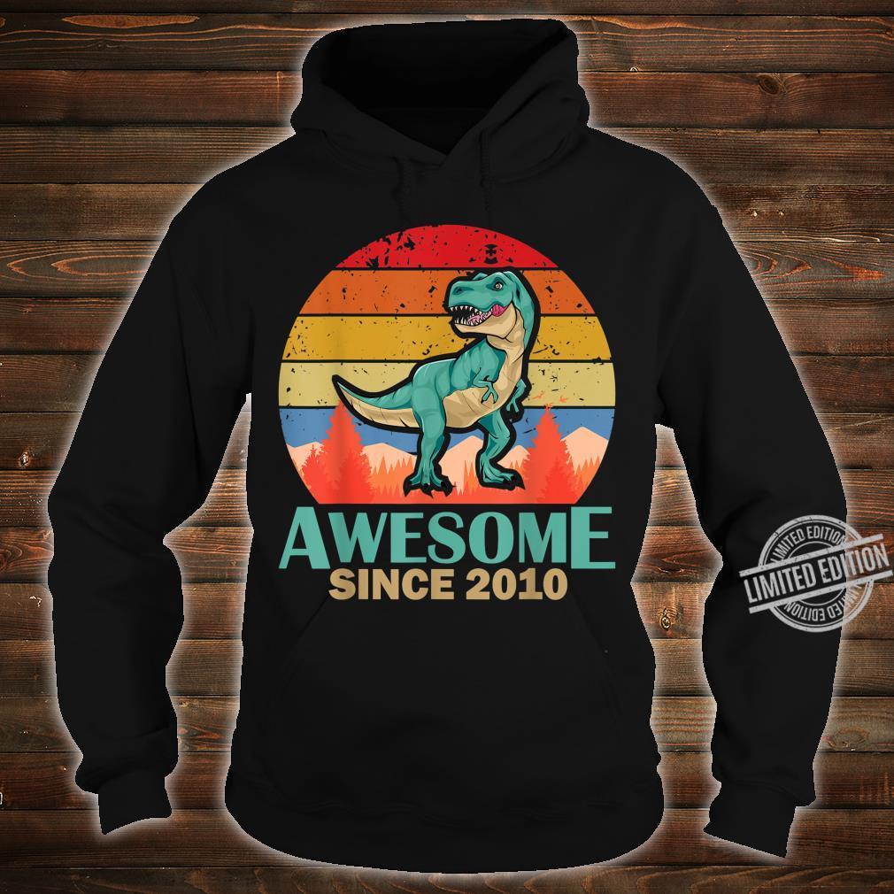 10. Geburtstag 10 Jahre alte Jungen Dinosaurier Geschenk Shirt hoodie