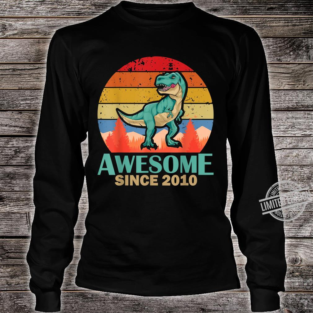 10. Geburtstag 10 Jahre alte Jungen Dinosaurier Geschenk Shirt long sleeved