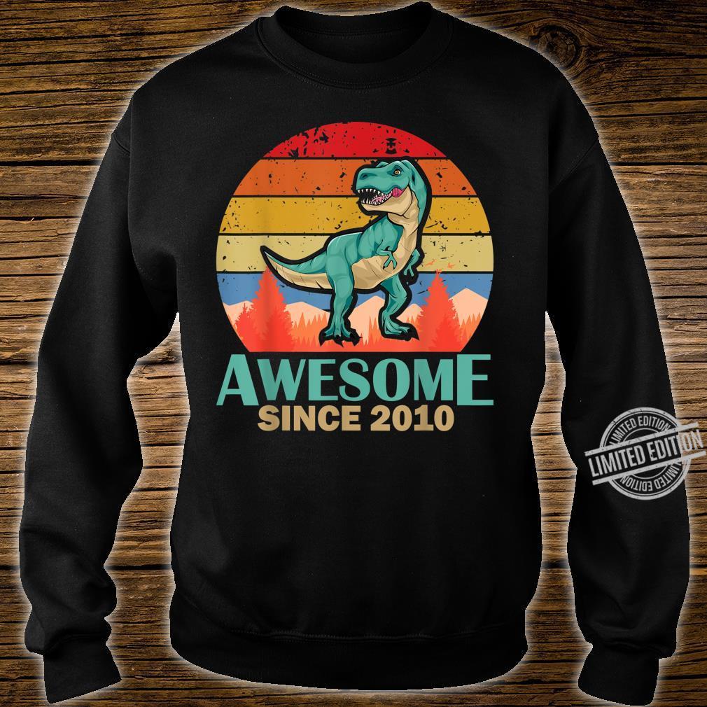 10. Geburtstag 10 Jahre alte Jungen Dinosaurier Geschenk Shirt sweater
