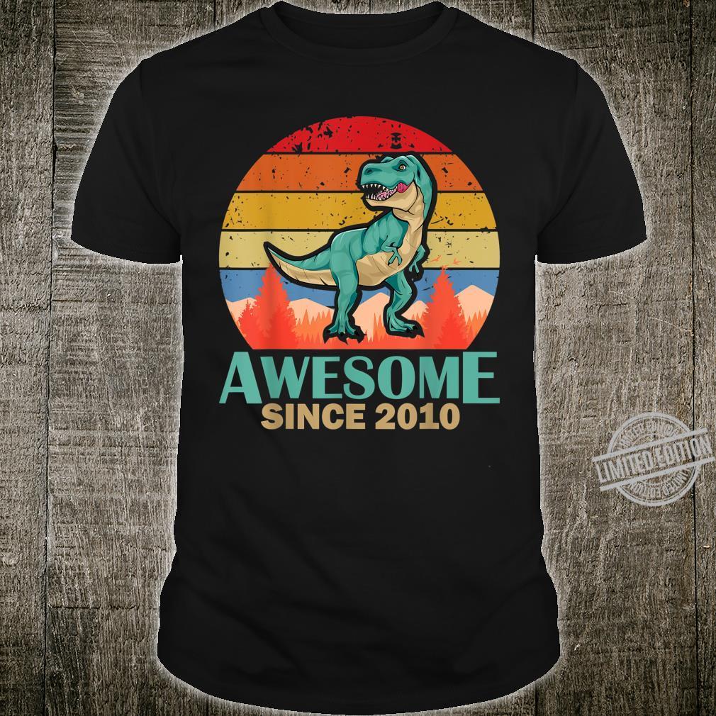 10. Geburtstag 10 Jahre alte Jungen Dinosaurier Geschenk Shirt