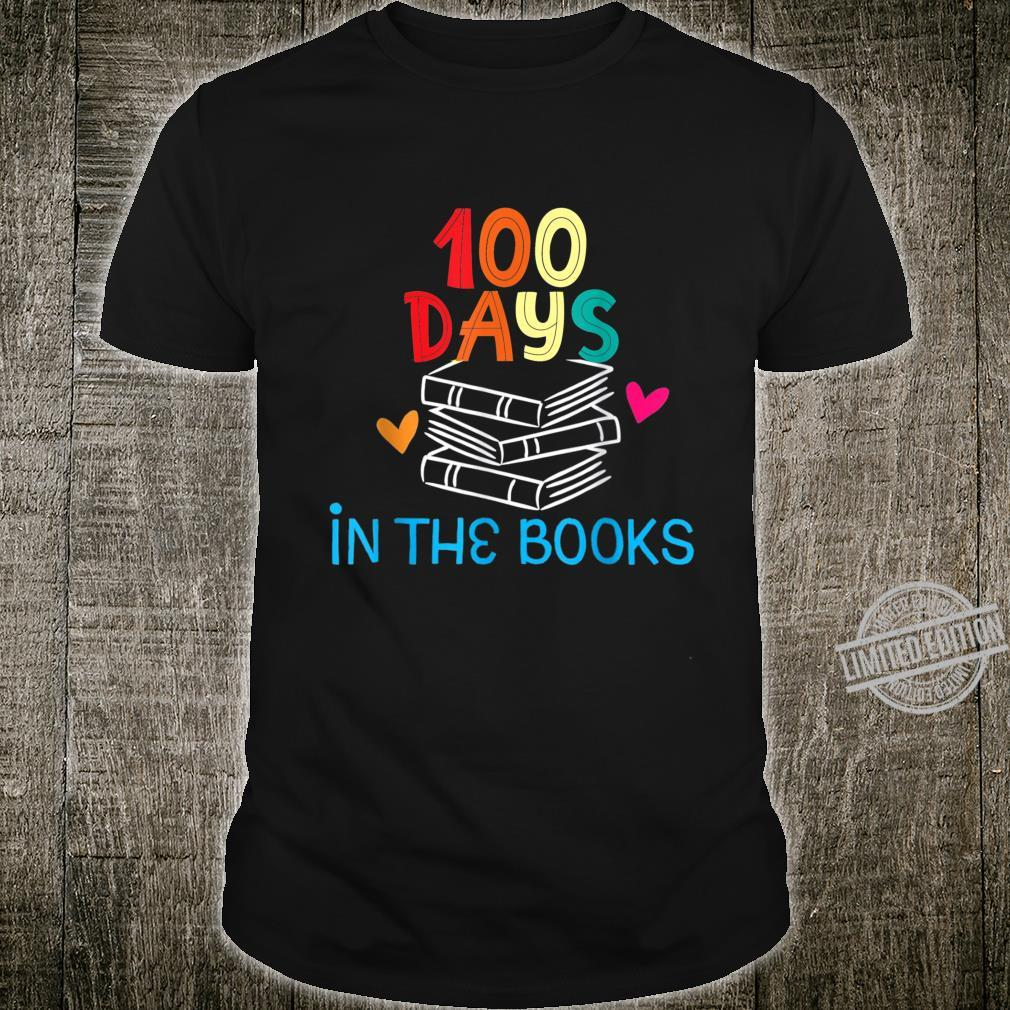 100 Days in the Books Book Reading Teacher Shirt