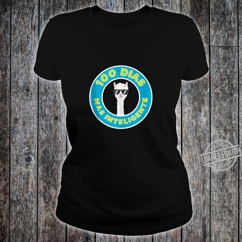 100 Days of School in Spanish for Teachers and Students Shirt ladies tee