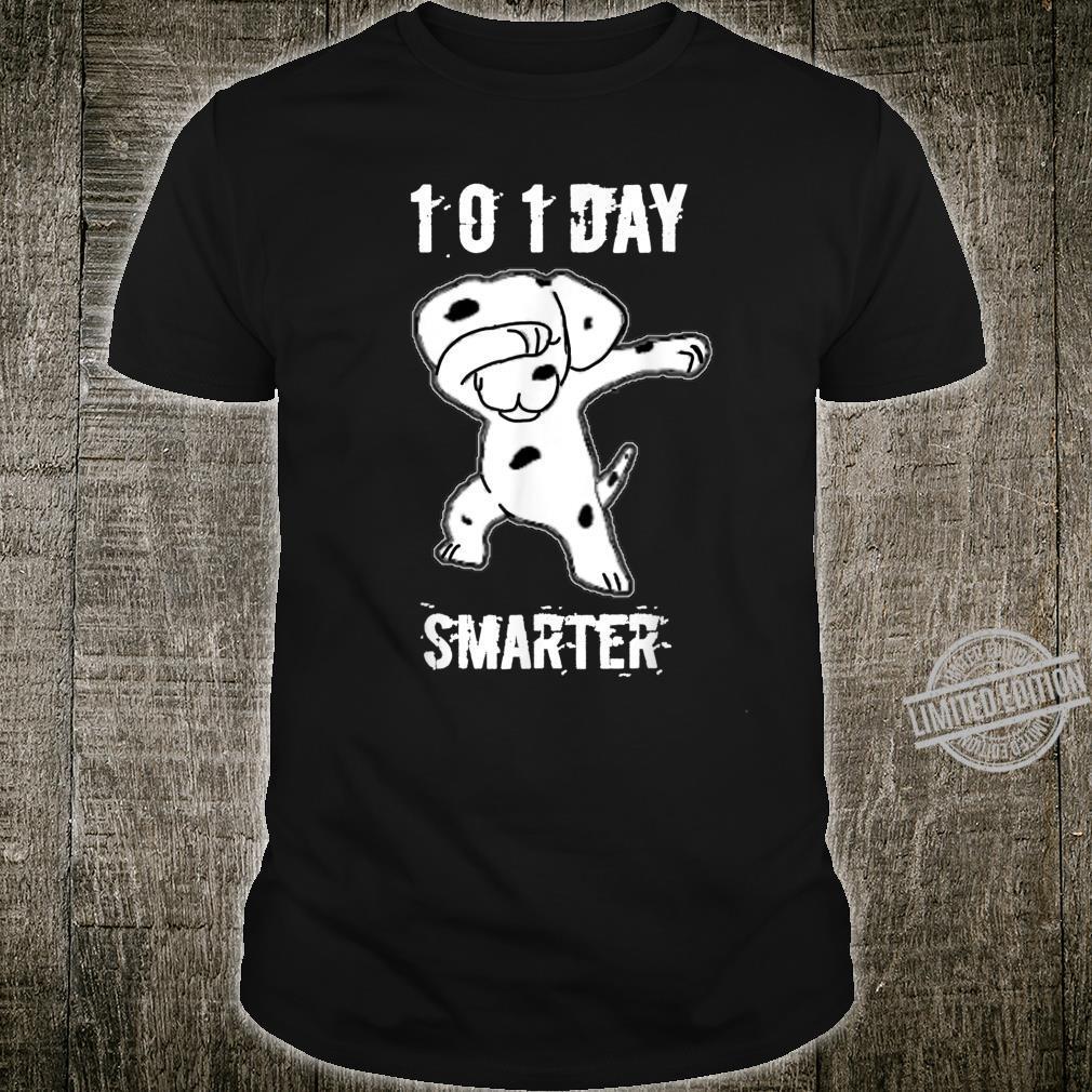 101 Days Smarter Dabbing dog Cute idea for Students Shirt