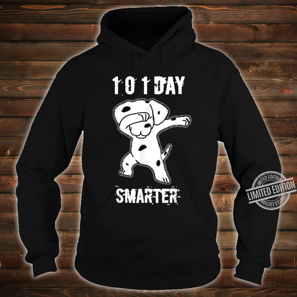 101 Days Smarter Dabbing dog Cute idea for Students Shirt hoodie