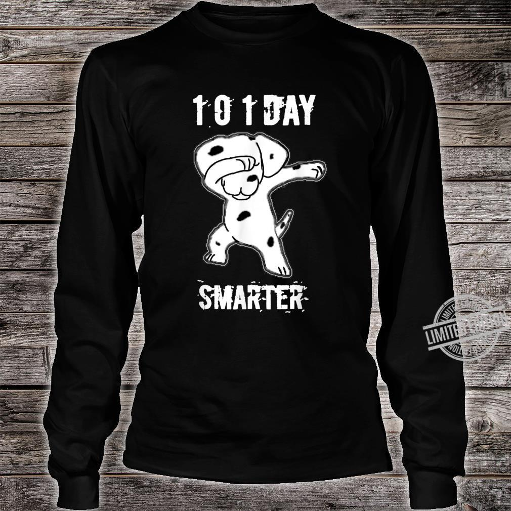 101 Days Smarter Dabbing dog Cute idea for Students Shirt long sleeved