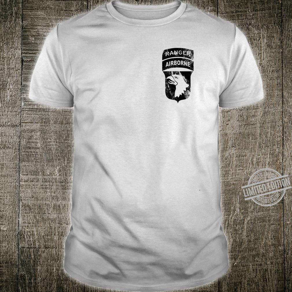 101st Airborne Division Patch Ranger Tab OD Worn look Shirt