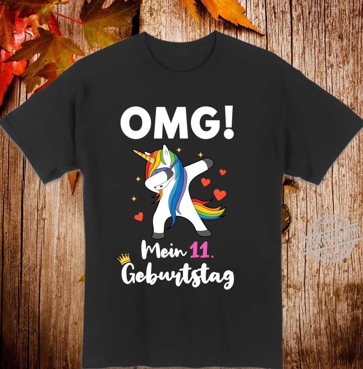 11. Geburtstag Mädchen 11jährig 11 Jahre Einhorn Geschenk Langarmshirt Shirt