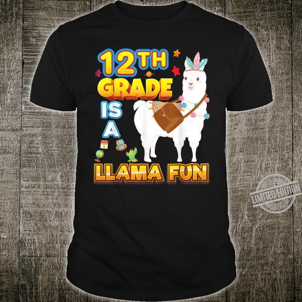 12th Grade Is A Llama Fun Back To School Cute Tribe Kid Shirt