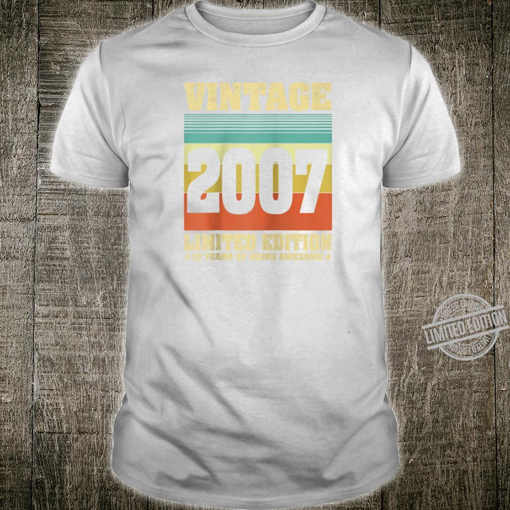 13 Year Old Vintage 2007 Limited Edition 13th Birthday Shirt