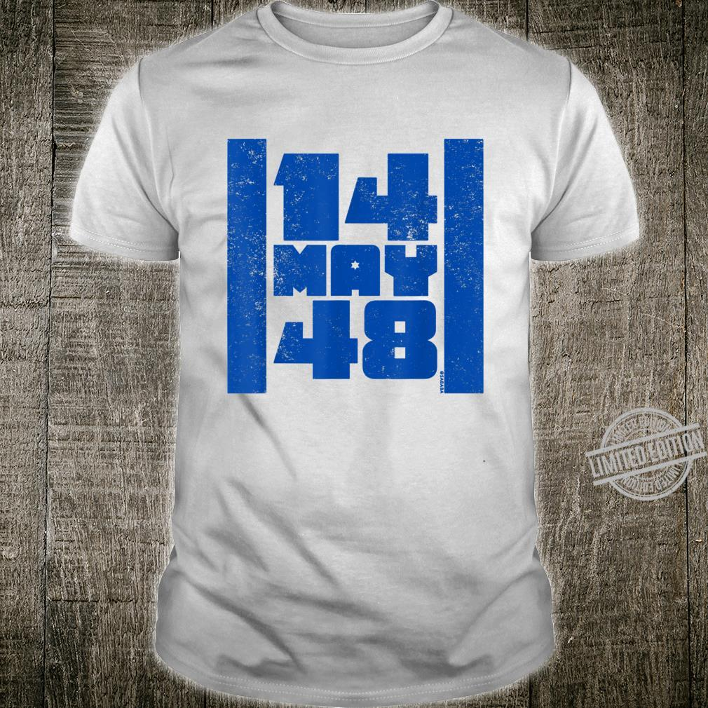 14 May 48 Israel Flag Independence Day Shirt