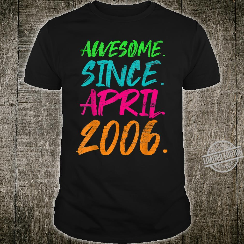 14th Birthday Awesome Since April 2006 Shirt