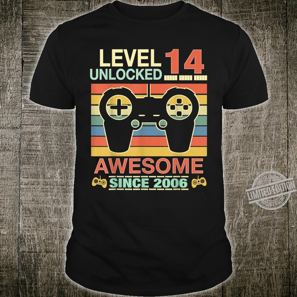 14th Birthday Level 14 Unlocked Awesome 2006 Video Game Shirt