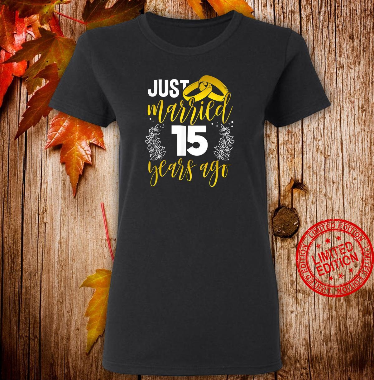 15th Wedding Anniversary for Her Him Husband Or Wife Shirt ladies tee