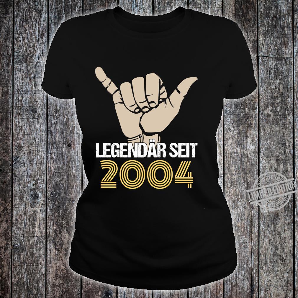 16. Geburtstag Junge Mädchen 16 Jahre Jahrgang 2004 Geschenk Langarmshirt Shirt ladies tee