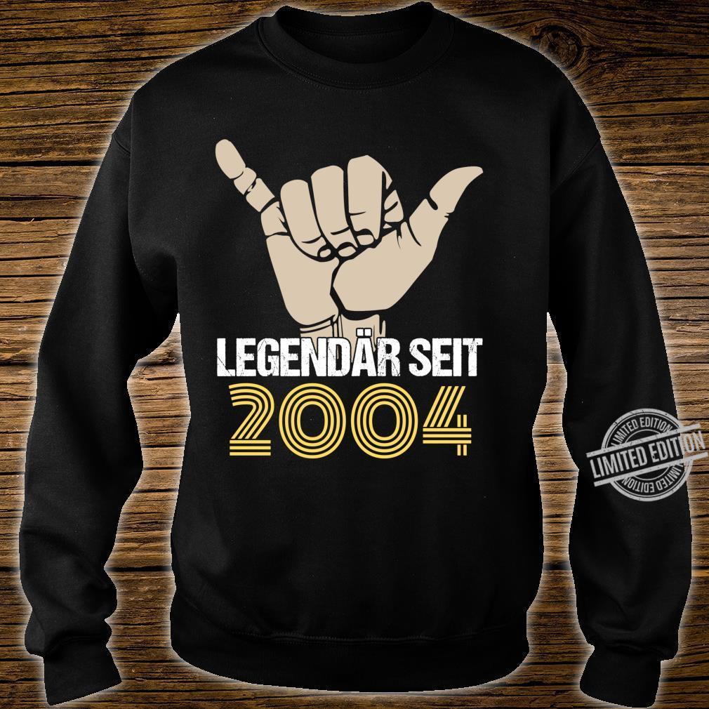16. Geburtstag Junge Mädchen 16 Jahre Jahrgang 2004 Geschenk Langarmshirt Shirt sweater