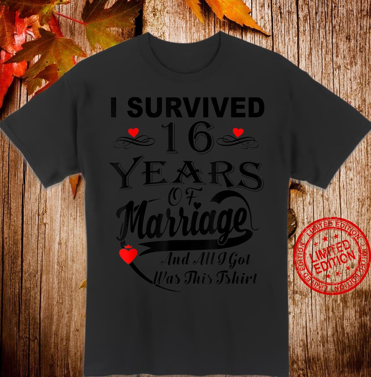 16th Wedding Anniversary Couple Shirt