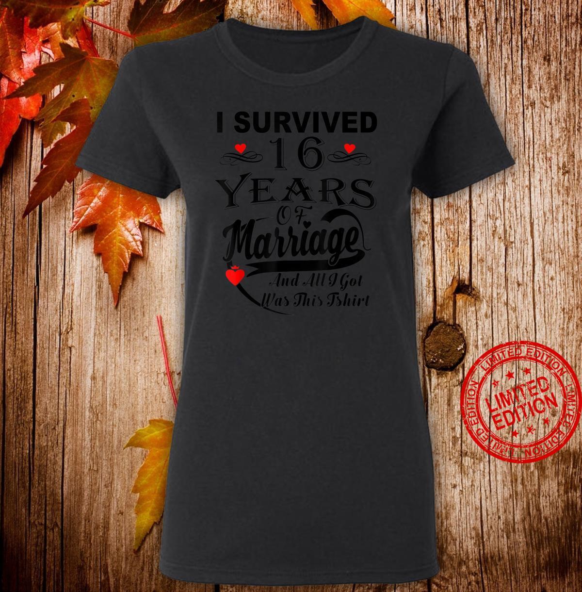 16th Wedding Anniversary Couple Shirt ladies tee