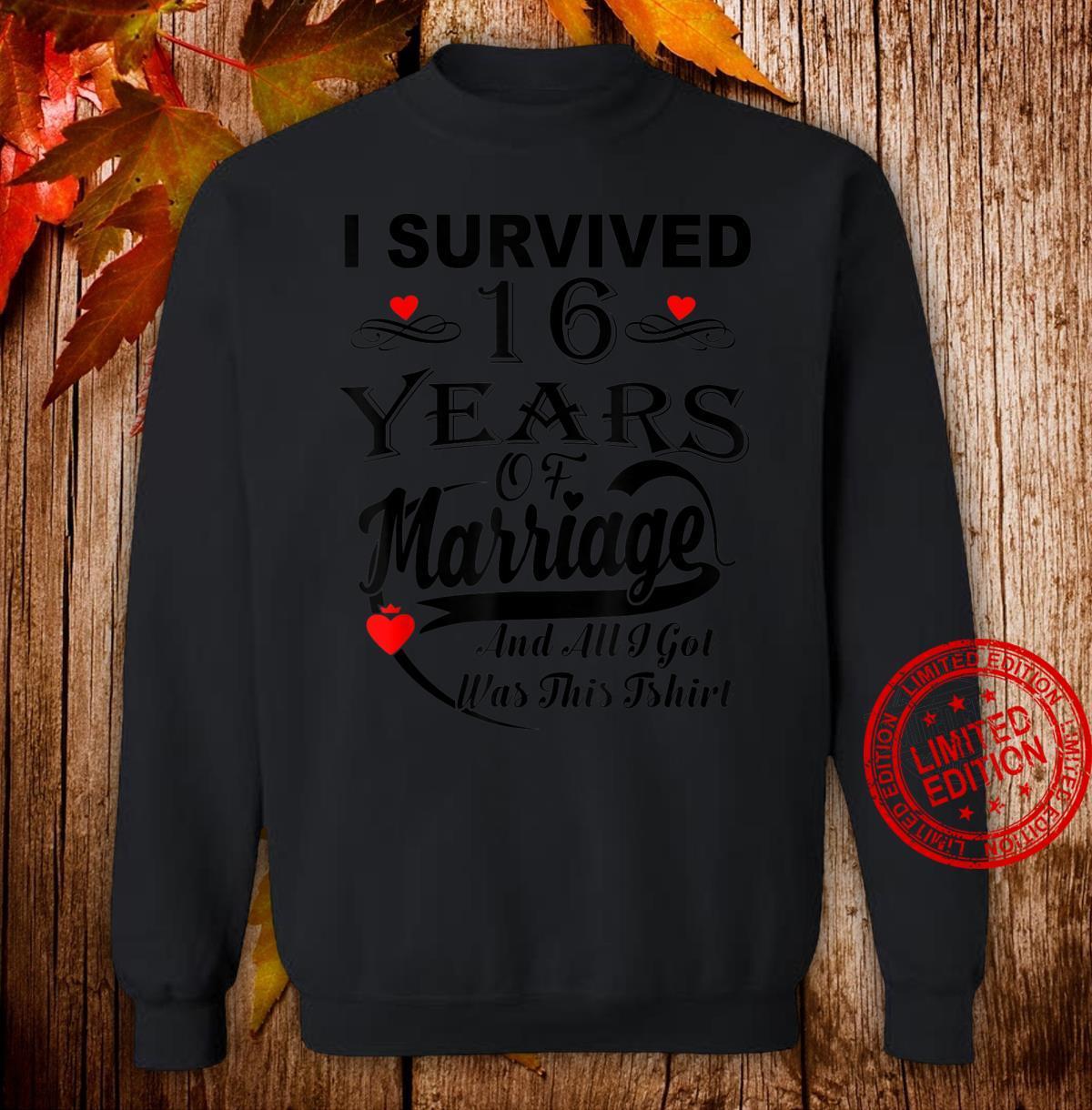 16th Wedding Anniversary Couple Shirt sweater
