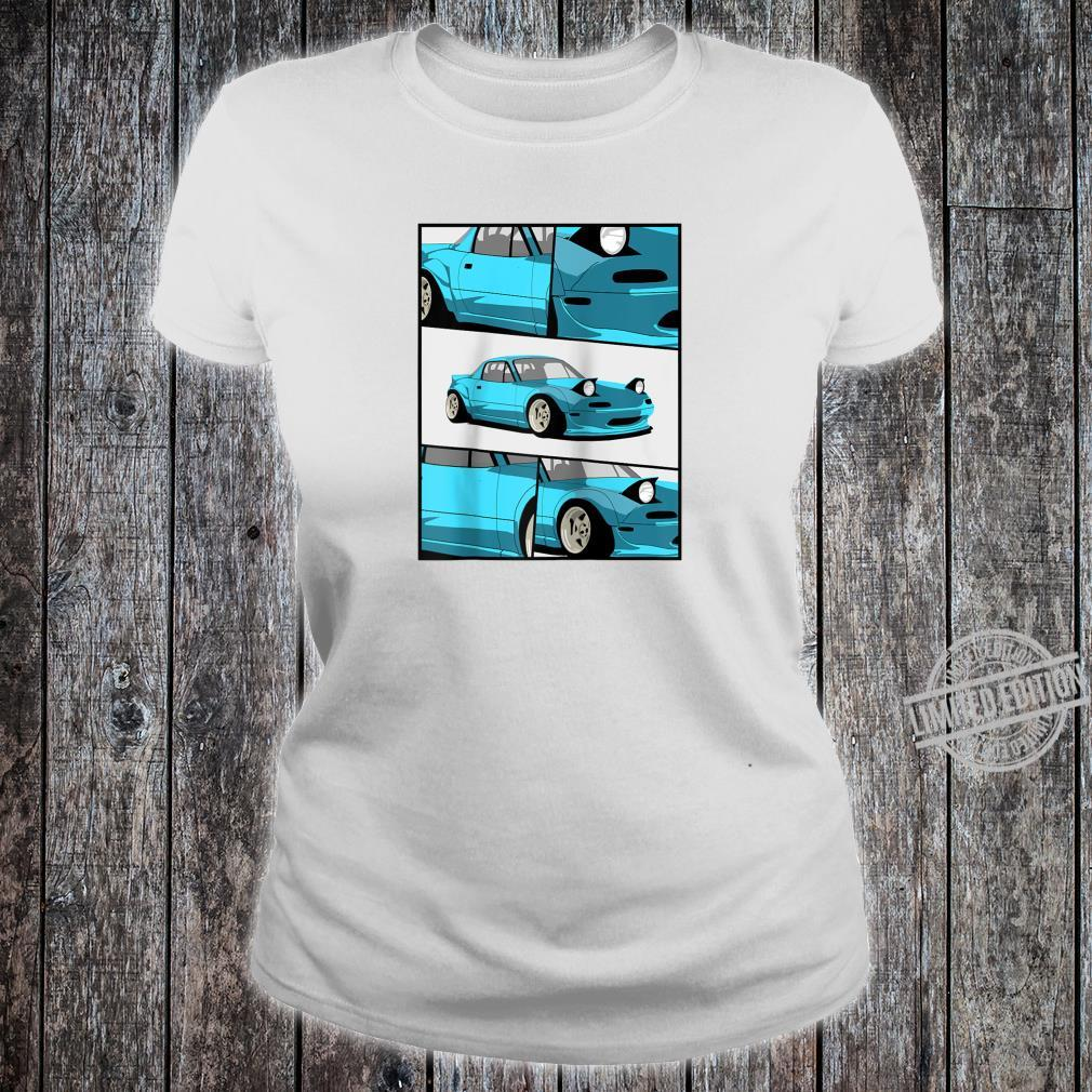 1743.Merch Fragment Japan Drifting Cars JDM New MX5 Shirt ladies tee