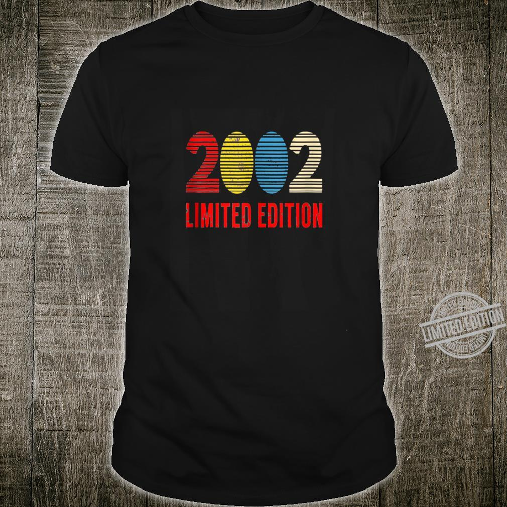18 Year Old Vintage 2002 Limited Edition 18th Birthday Shirt