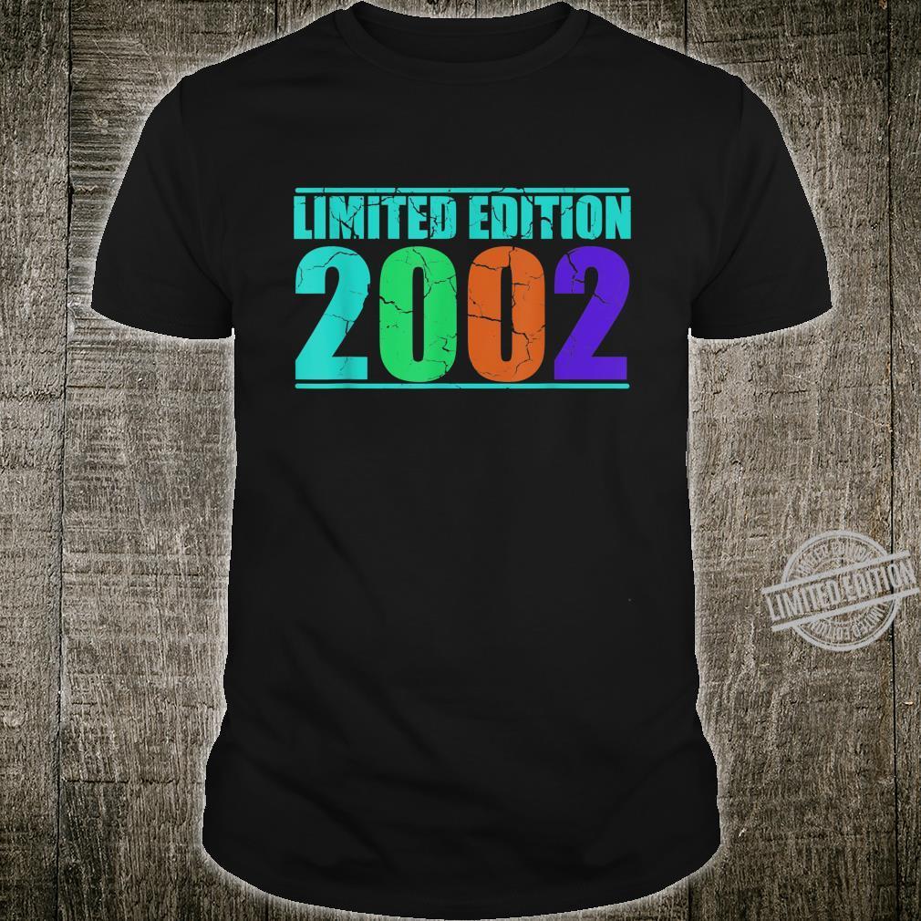 18. Geburtstag Geschenk Geschenkidee 2002 Retro Vintage Shirt