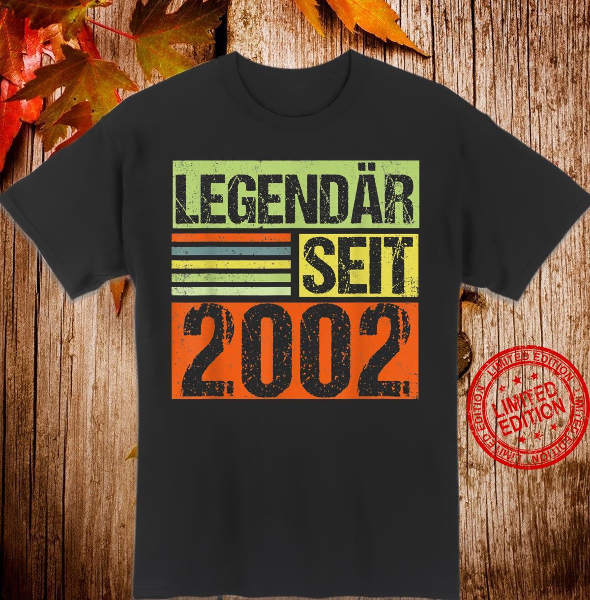 18. Geburtstag Legendär Seit 2002 Jahrgang '02 Shirt