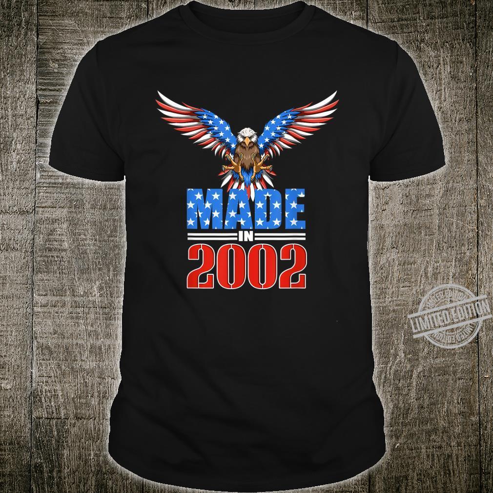18th Birthday 2002 USA Flag Eagle Patriotic Shirt