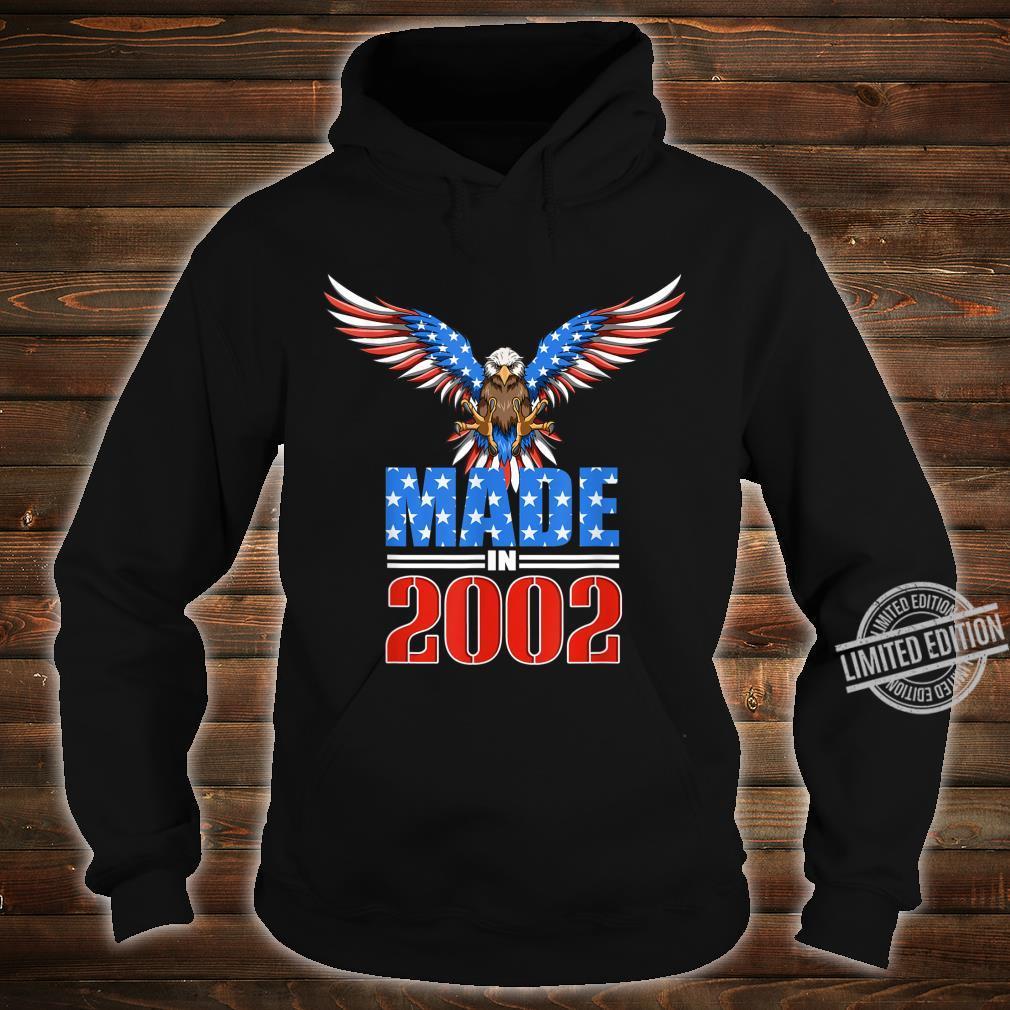 18th Birthday 2002 USA Flag Eagle Patriotic Shirt hoodie