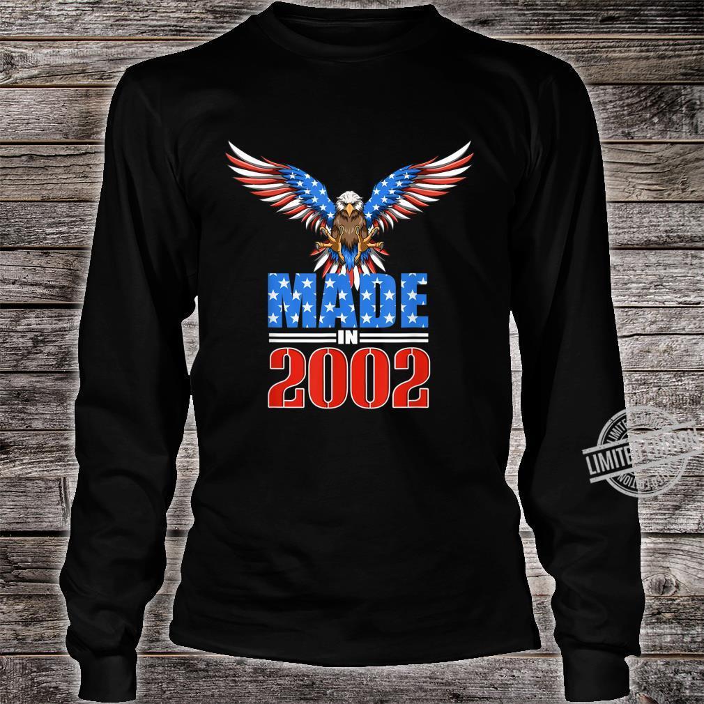 18th Birthday 2002 USA Flag Eagle Patriotic Shirt long sleeved