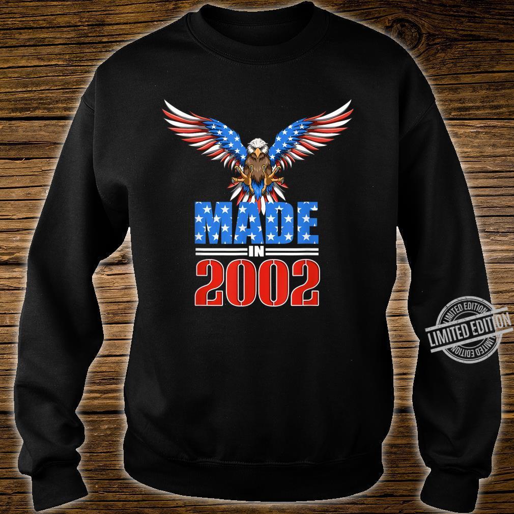 18th Birthday 2002 USA Flag Eagle Patriotic Shirt sweater
