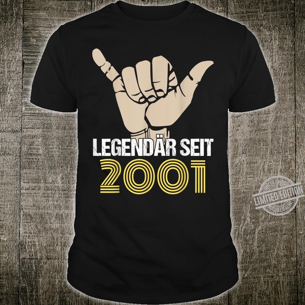 19. Geburtstag Damen Herren 2001 Mann Frau 19 Jahre Geschenk Shirt
