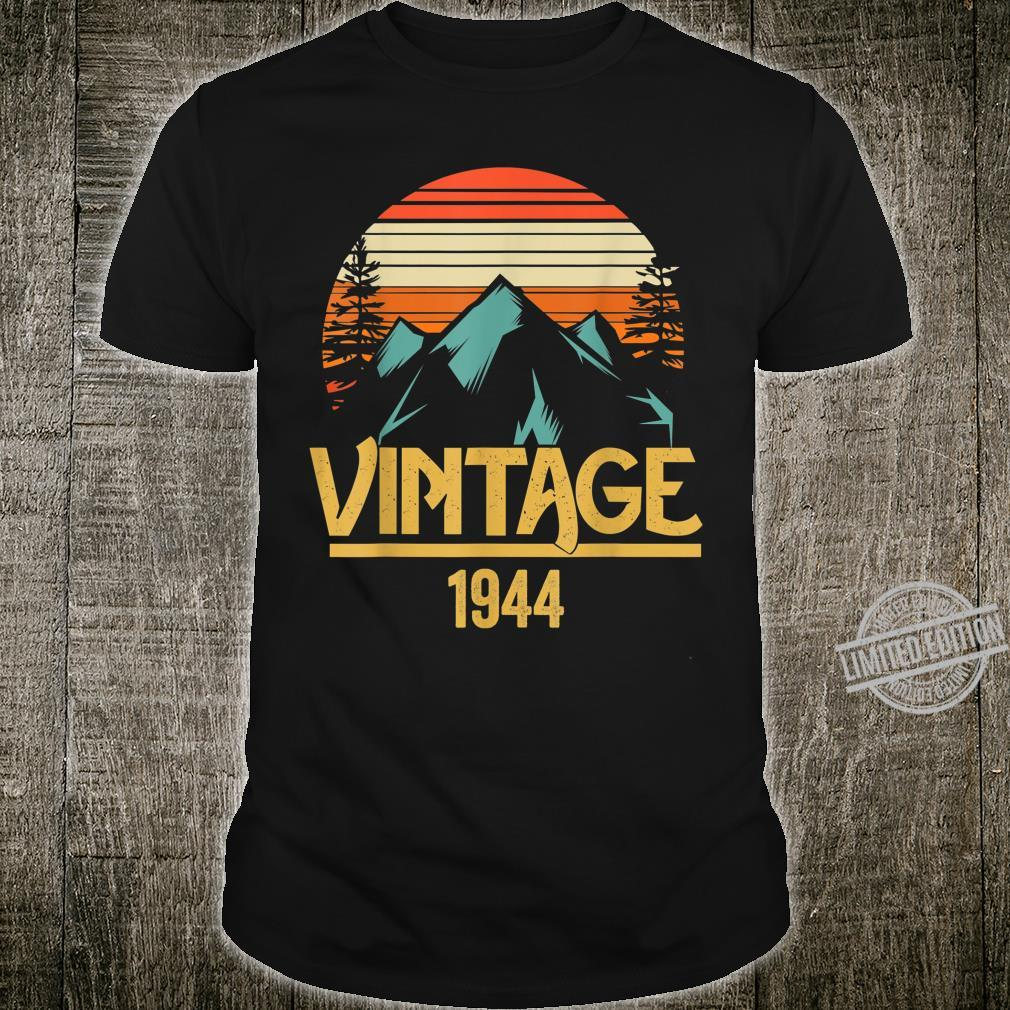 1944 Vintage Mountain Tip Retro 75th Birthday 75 Year Old Shirt