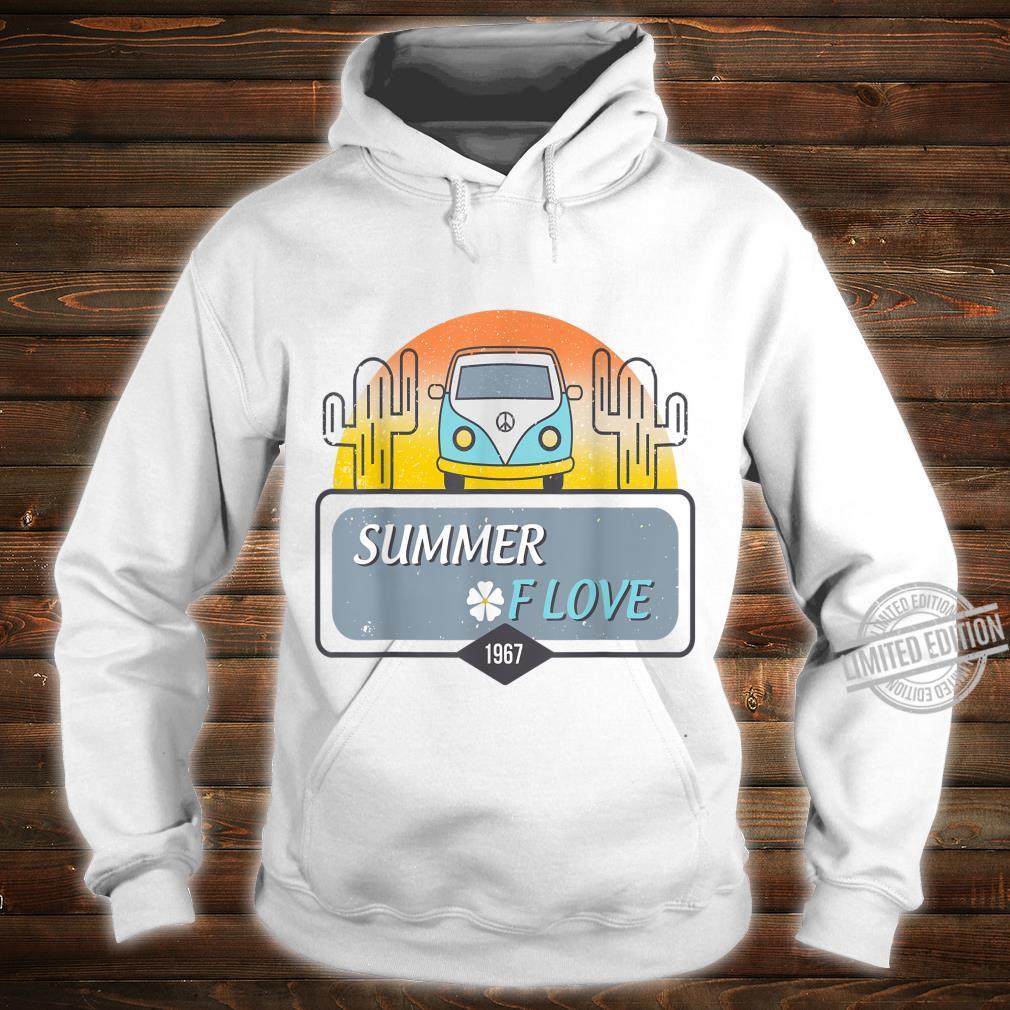 1967 Summer Love Hippie Peace Camper Van Shirt hoodie