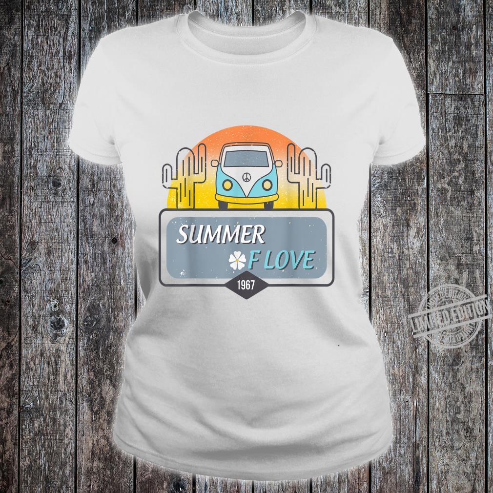 1967 Summer Love Hippie Peace Camper Van Shirt ladies tee