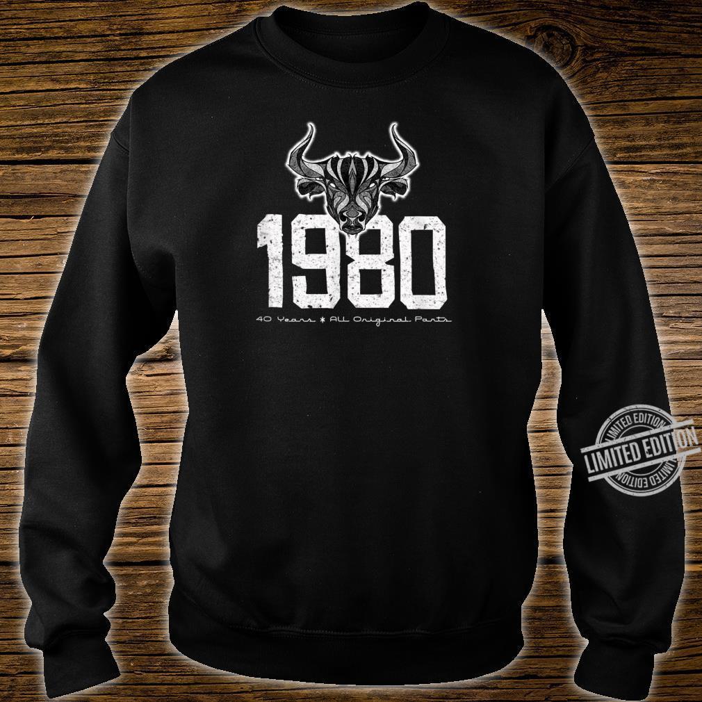 1980 40 Years All Original Parts Birthday Shirt sweater