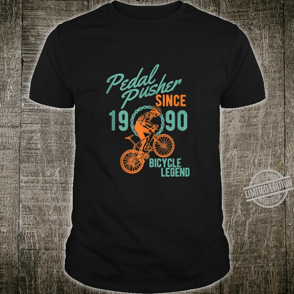 1990 30th Birthday Mountain Bike Biking Bicycle Cyclist Shirt