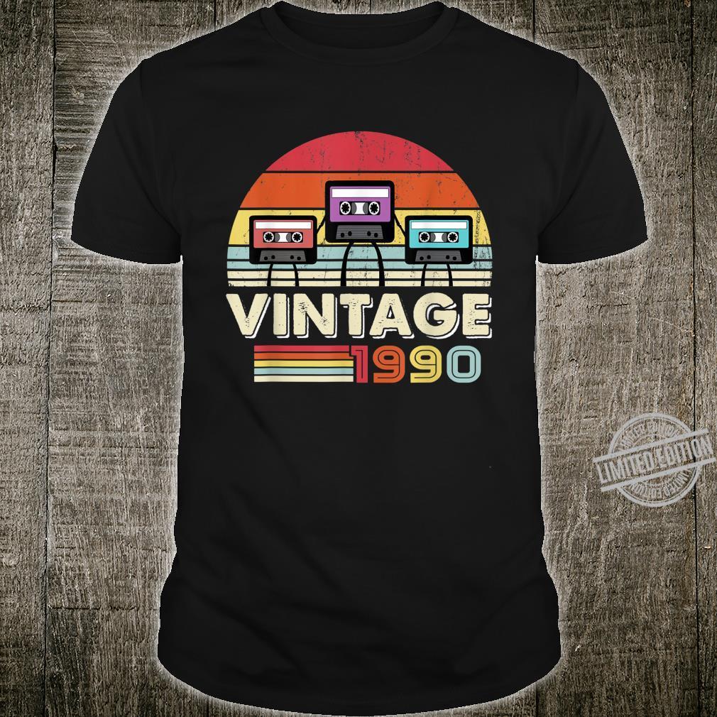 1990 Shirt. Vintage 30th Birthday, Music Tech Shirt