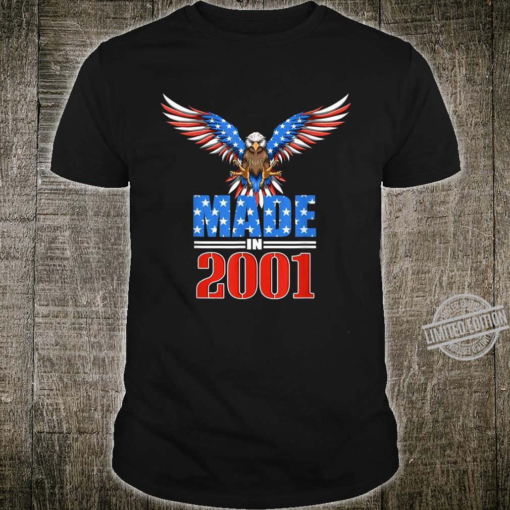 19th Birthday 2001 USA Flag Eagle Patriotic Shirt