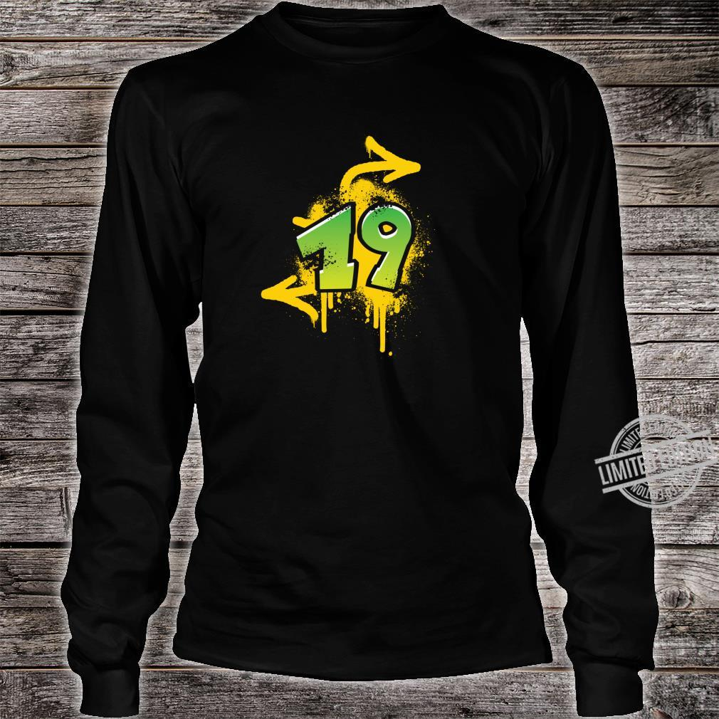 19th birthday present cool spray HIPHOP Shirt long sleeved