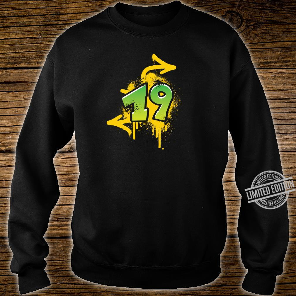 19th birthday present cool spray HIPHOP Shirt sweater