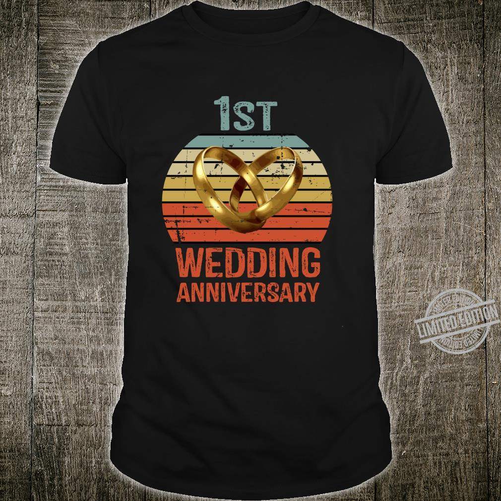 1st Anniversary for Him Her Couples Shirt