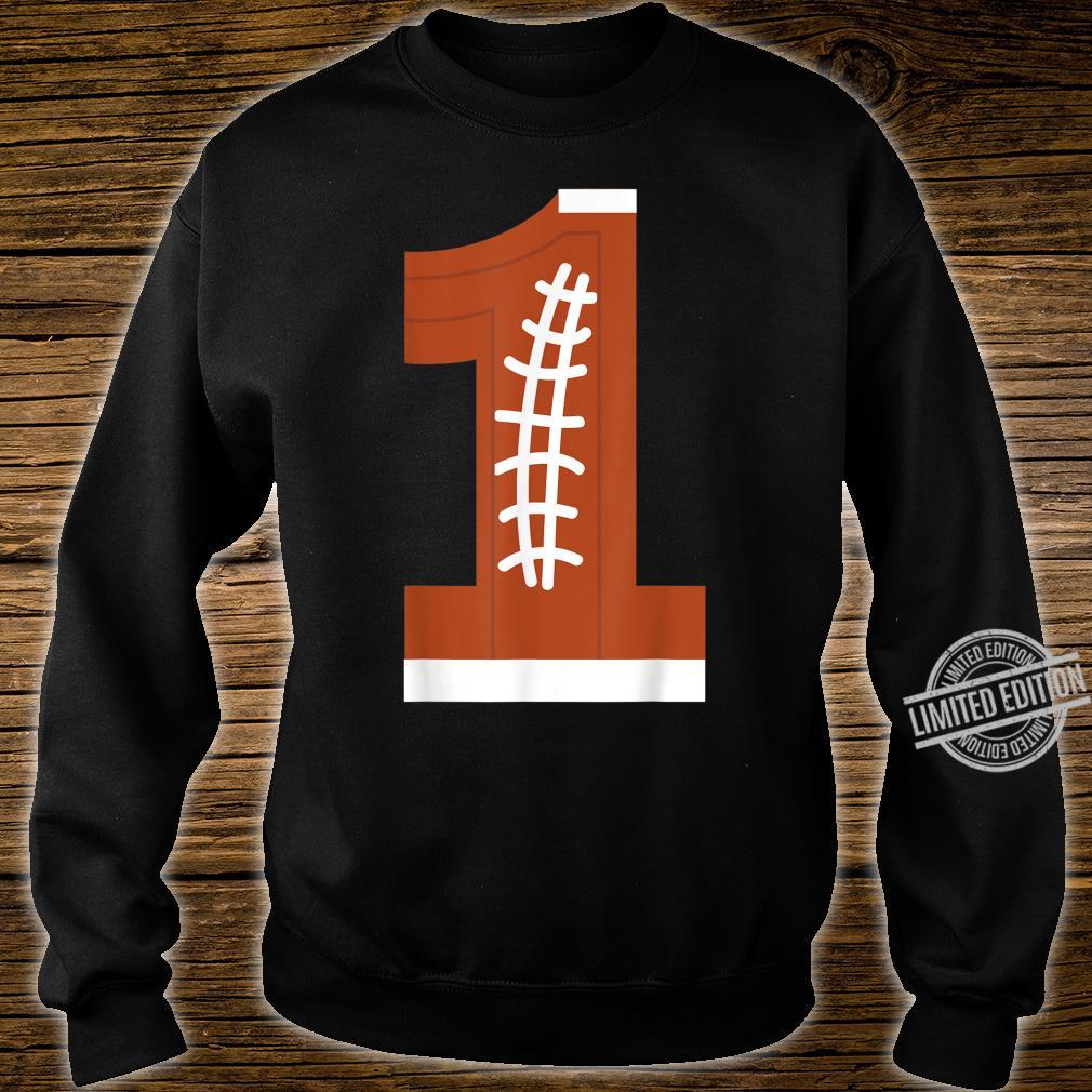 1st Birthday Football Ball Boys 1 Year Old Shirt sweater