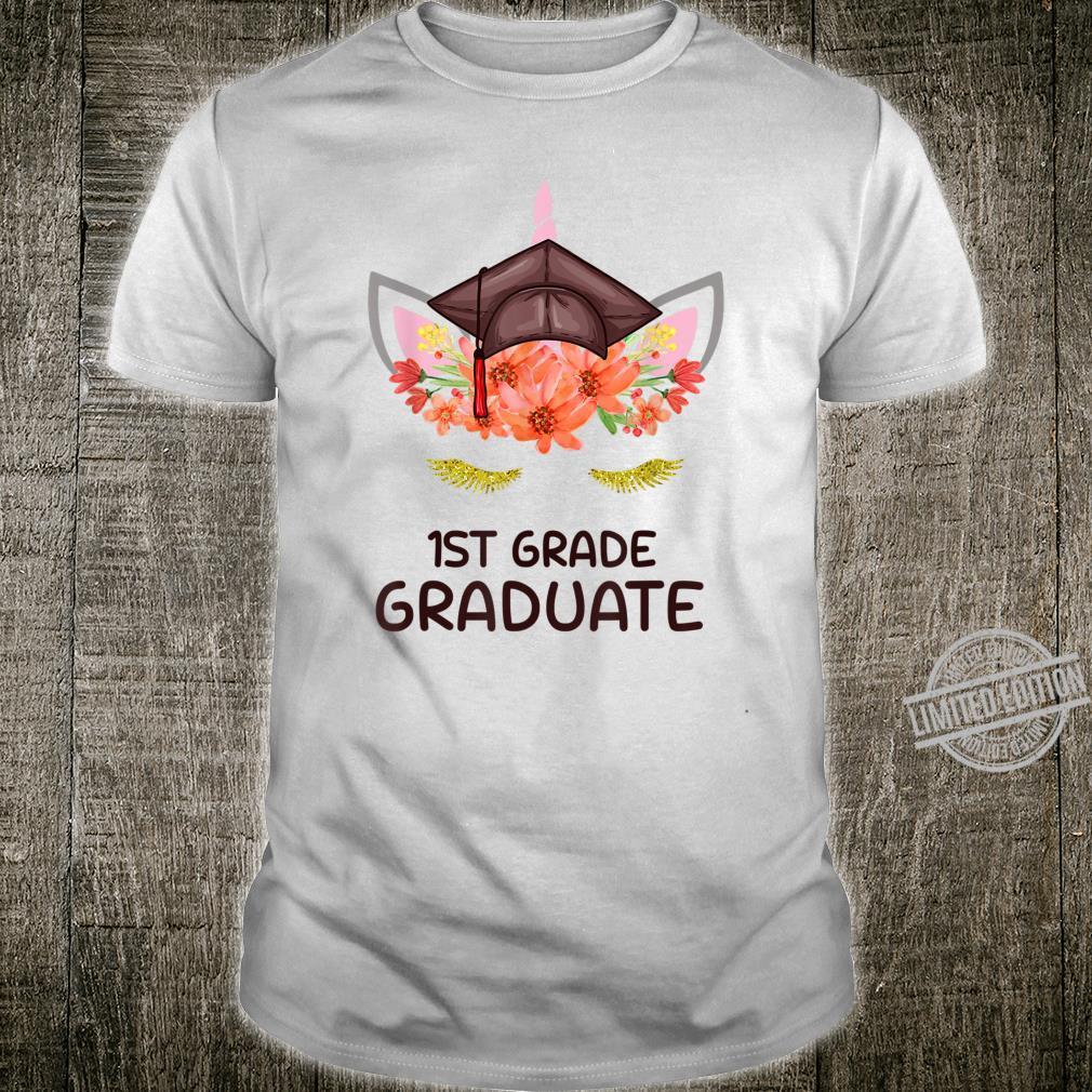 1st Grade Graduate 2020 Cute Unicorn Face For Girls Shirt