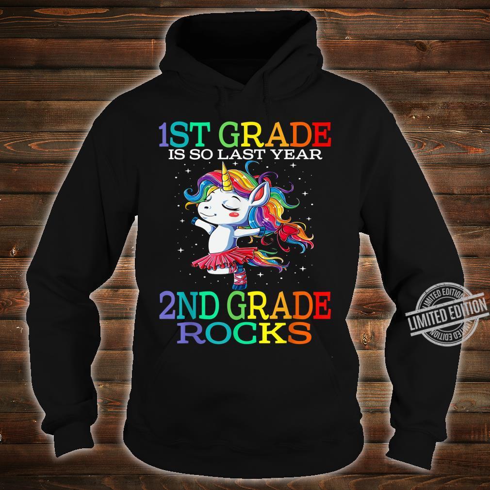 1st Grade Is So Last Year 2nd Grade Rocks Unicorn Shirt hoodie